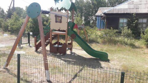 Строительство детской площадки в п. Озерной